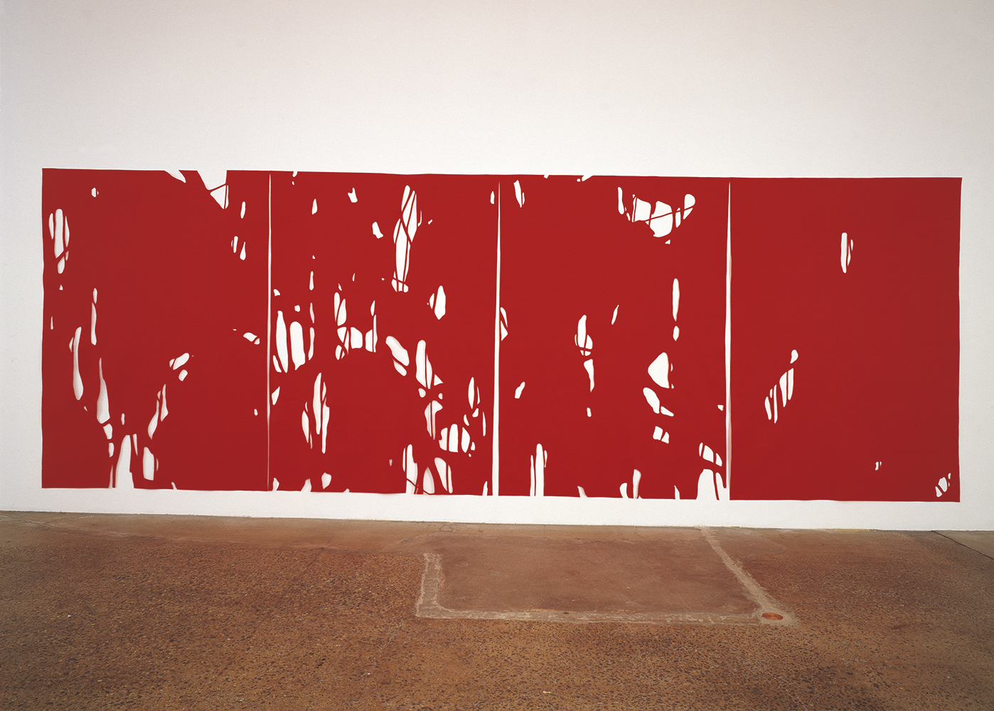 Behind the House III, 1999, Wool felt, 259 x 751 cm
