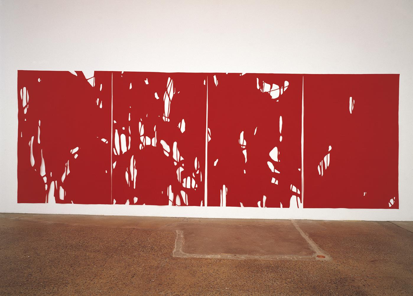 Behind the House III, 1999, Wool felt, 259 x 751 cm
