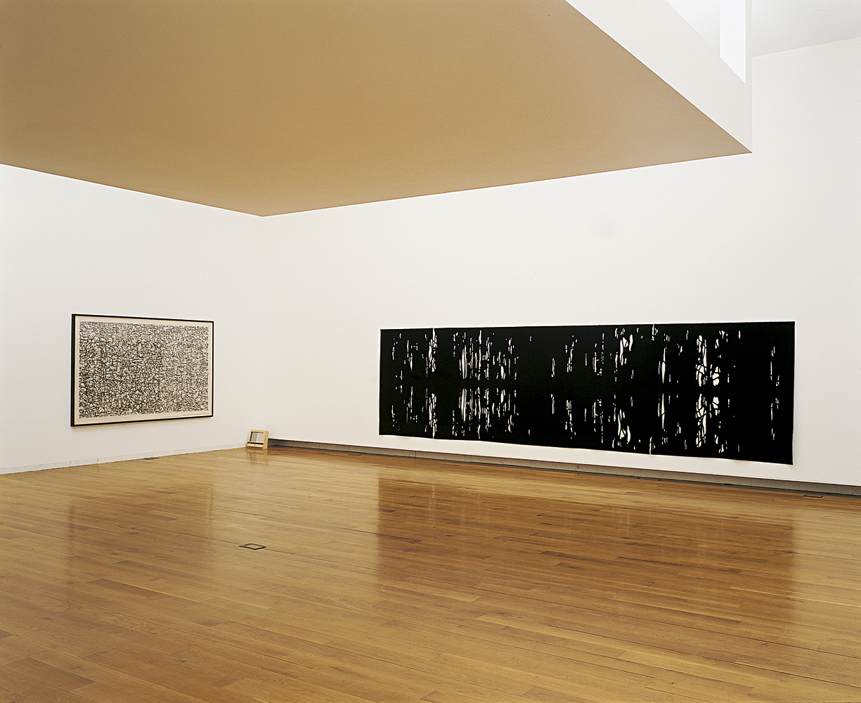 At Your Side, 2002, Wool felt, 165 x 609 cm