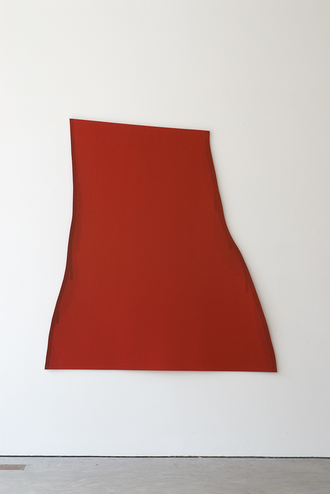 Lapa, 2007, Acrylic on felt, Red, 166 x 154 cm