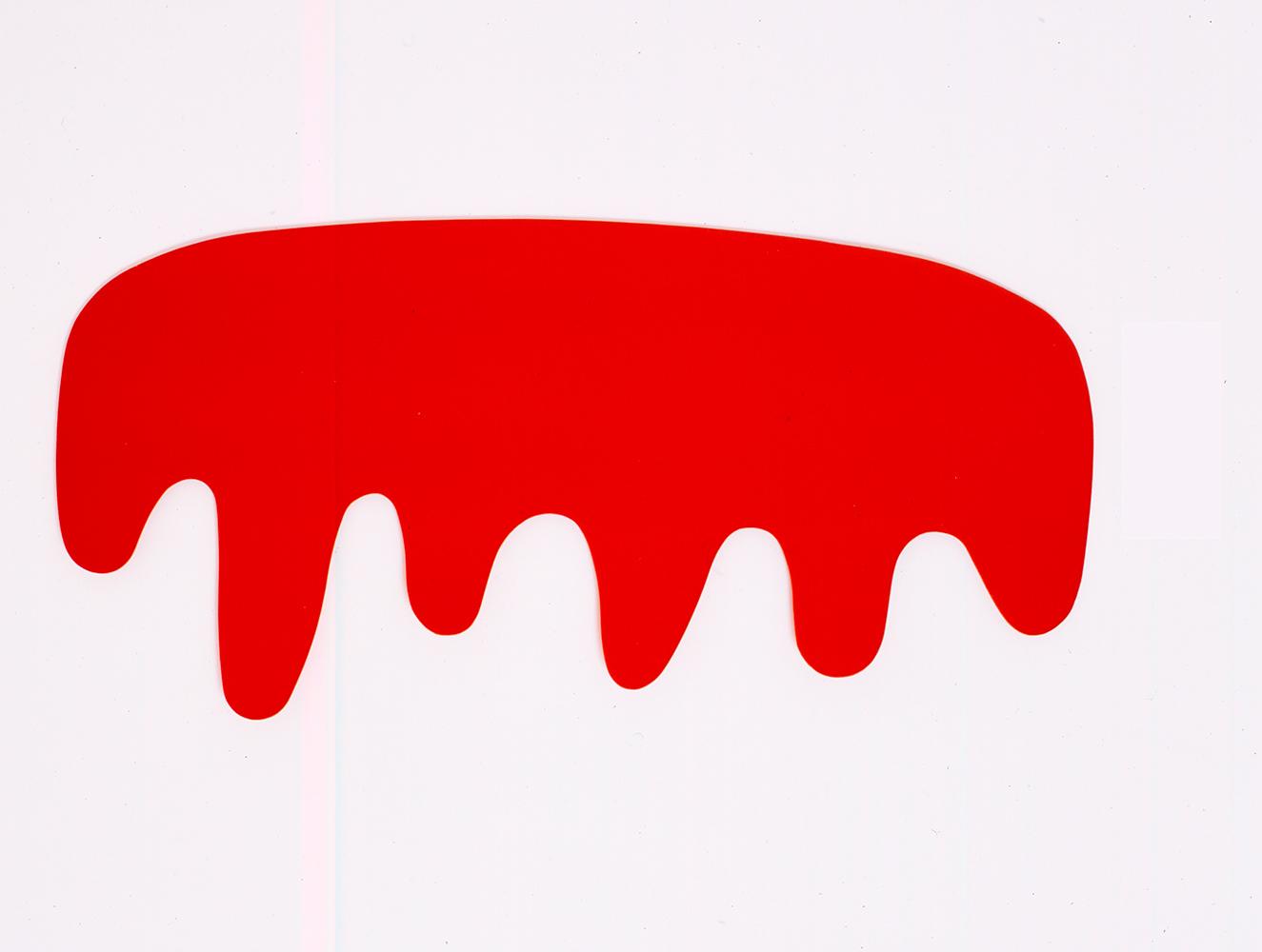 Orfeo, 2007, Cut felt, 72 x 150 cm