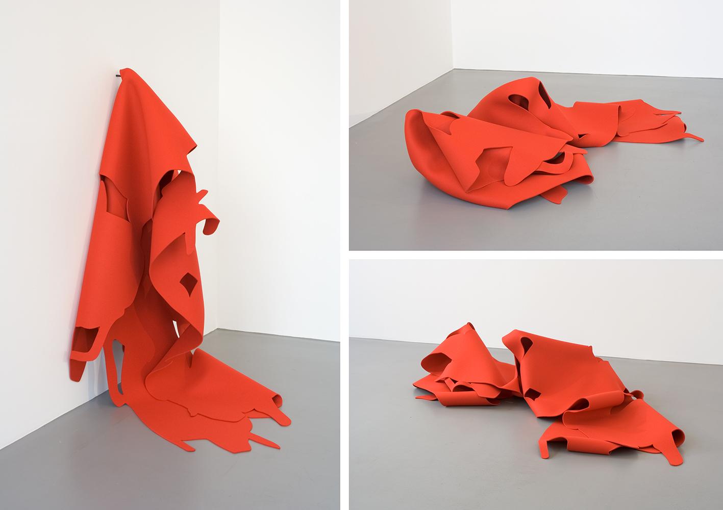 Felt #19, 2009, Wool felt, 165 x 500 cm