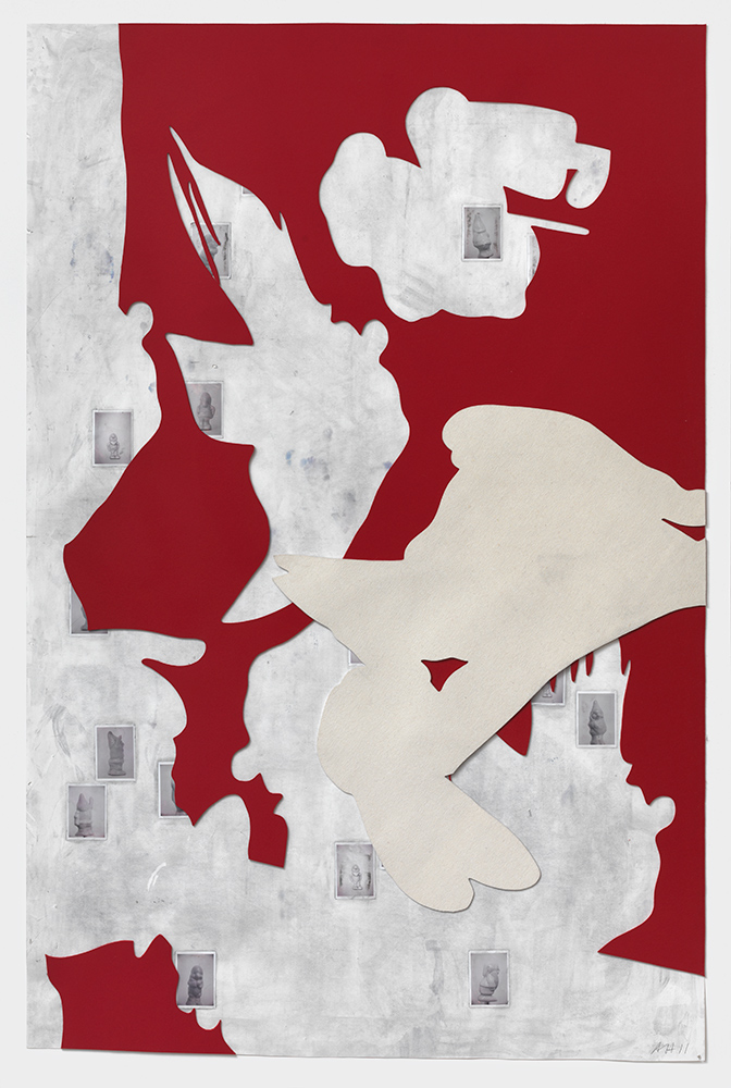 Rapt #1, 2011, Mixed media on paper, 220 x 150 cm