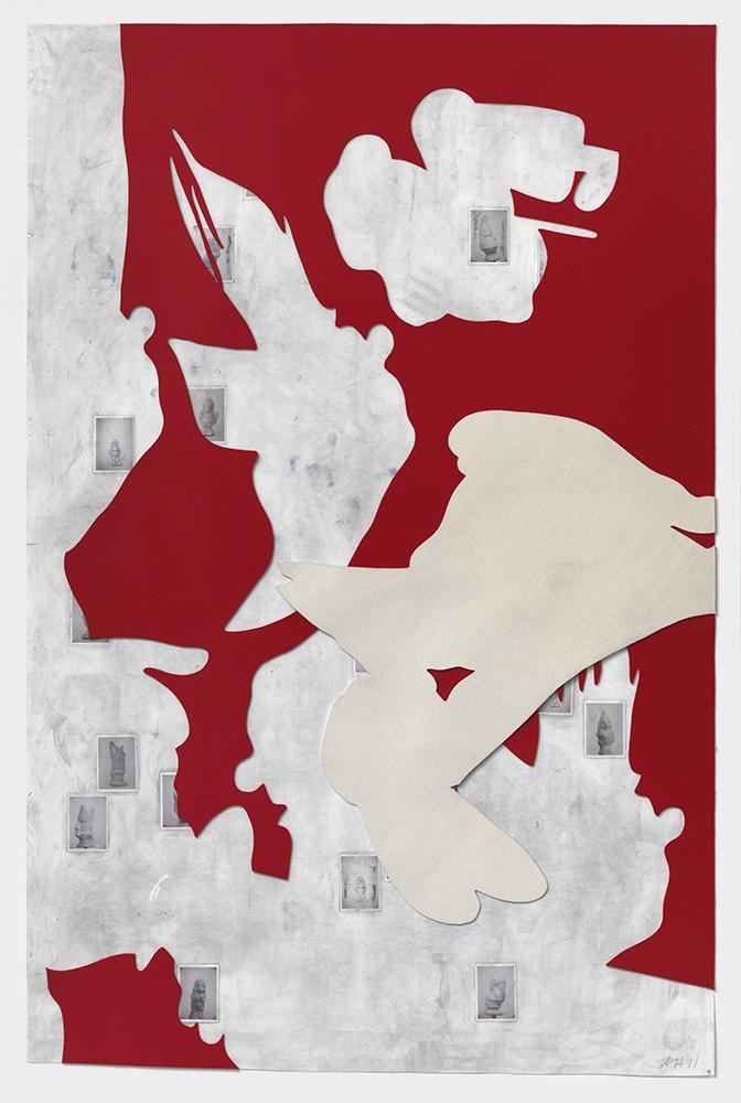 Rapt #1, 2011, Mixed media on paper, 220 x 150 cm
