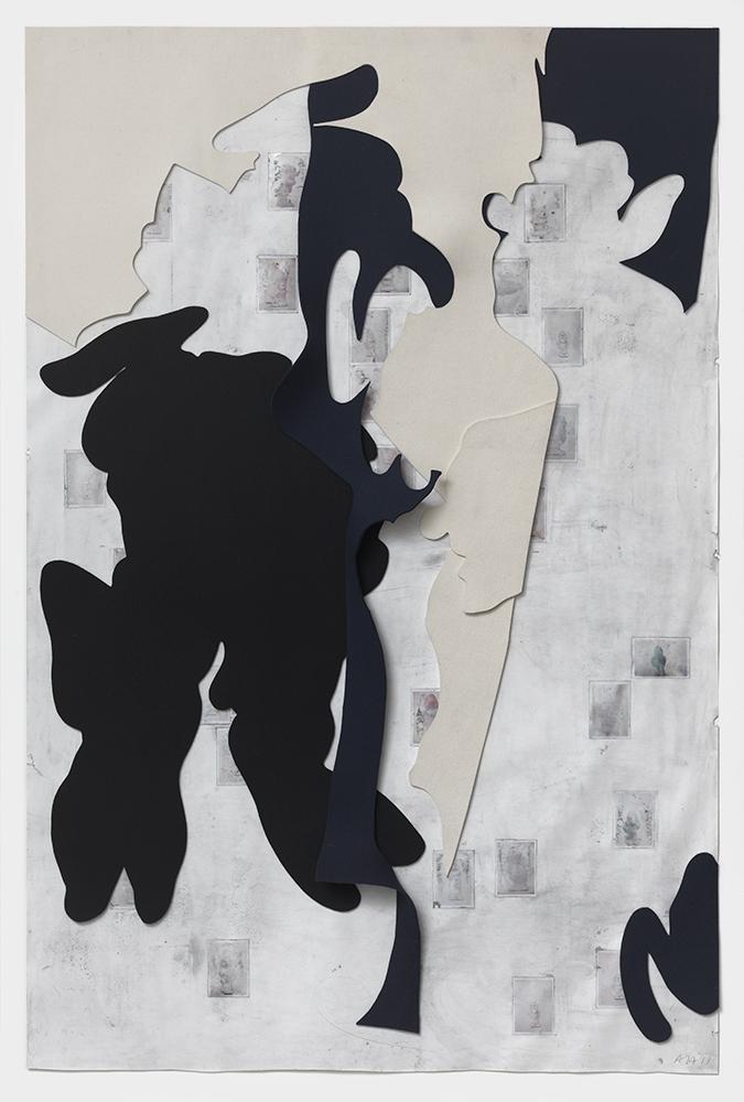 Rapt #3, 2011, Mixed media on paper, 220 x 150 cm