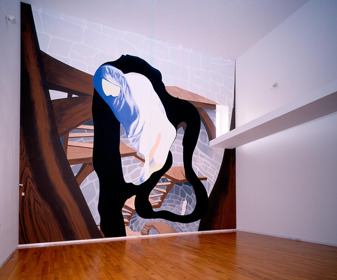 Keep in touch, 2005, Paint on wall, 10,15 x 11,5 m, Centro Galego de Arte Contemporánea, Santiago de Compostela, Spain