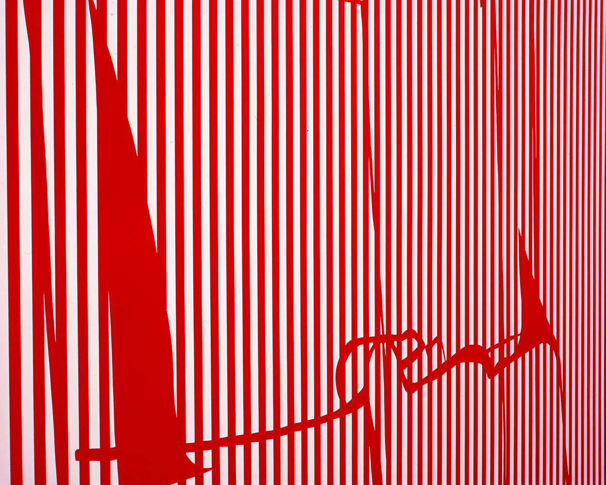 Getrennt, aber doch zusammen, 2005, Acrylic paint on prepared wall, Variable, DAAD Galerie, Berlin