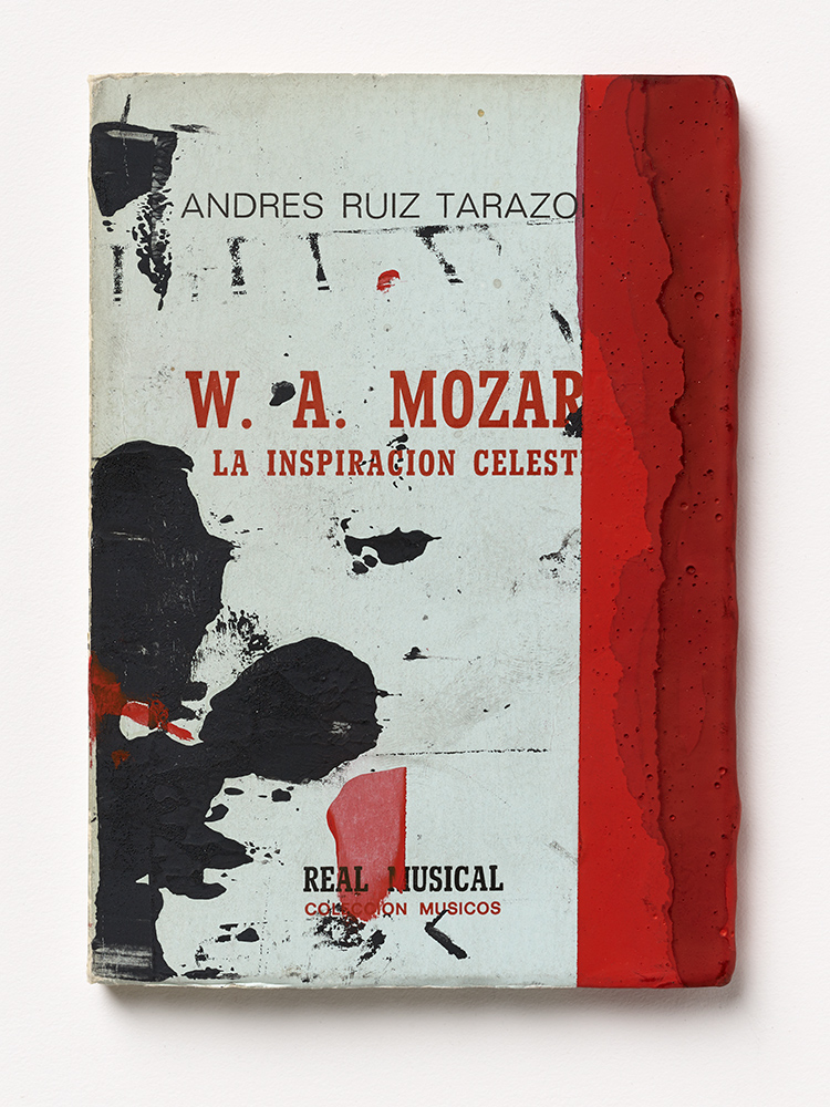 W.A. Mozart, 2012, Silkscreen and mixed media on paper, 15,9 x 11,4 x 0,8 cm