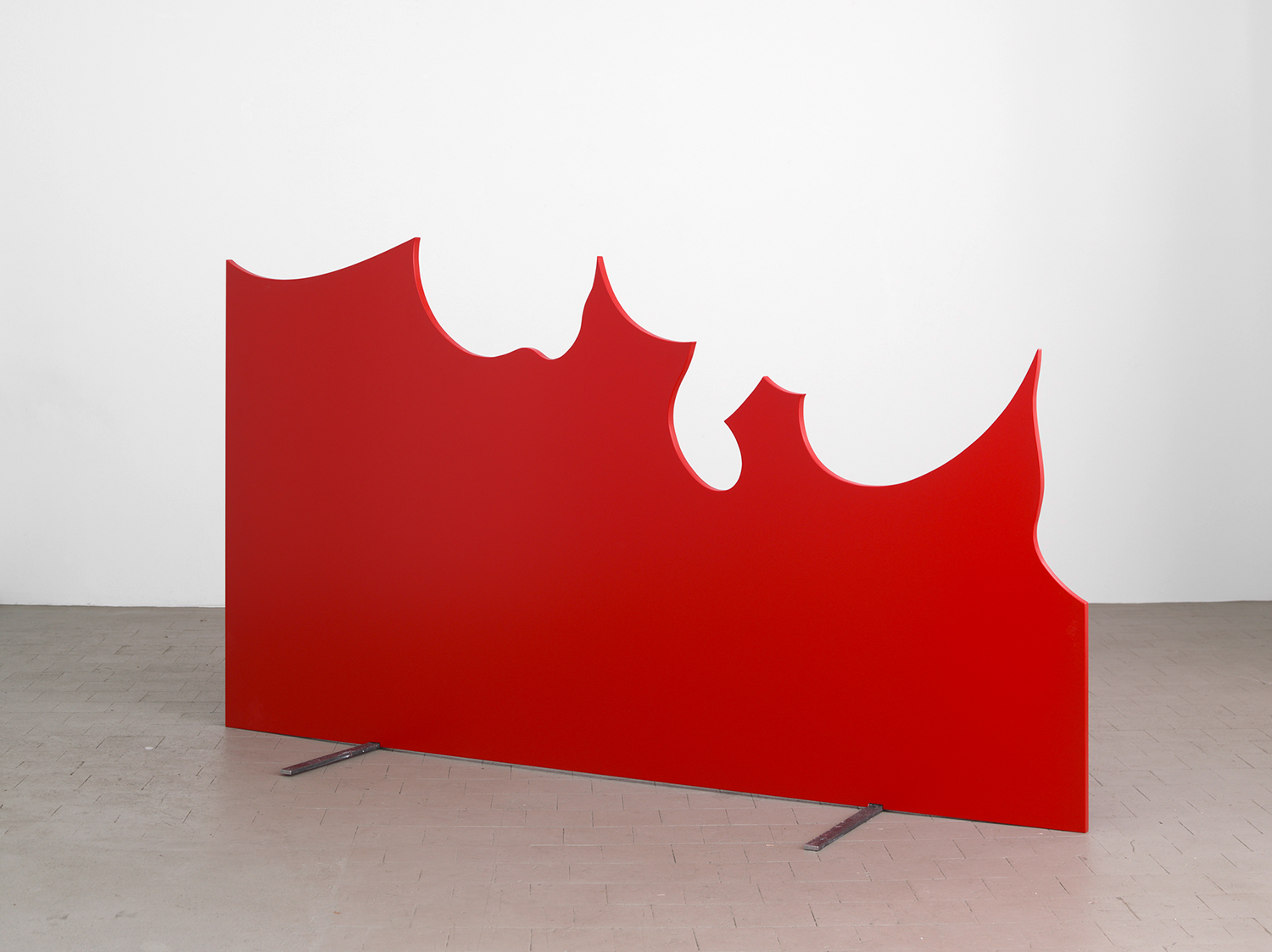 Untitled (Alice), 2009, MDF, Lacquer, Steel, 140 x 250 x 2,8 cm