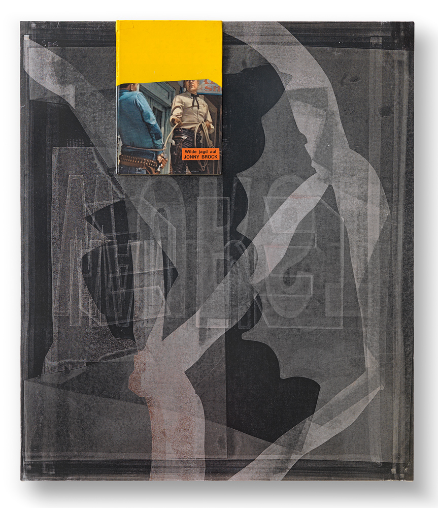 Untitled (Jonny Brock), 2014, Mixed media on aluminium, 78,5 x 67 cm