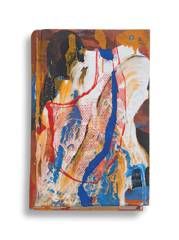 Untitled, 2015, Mixed media on book, 18,6 x 12 cm