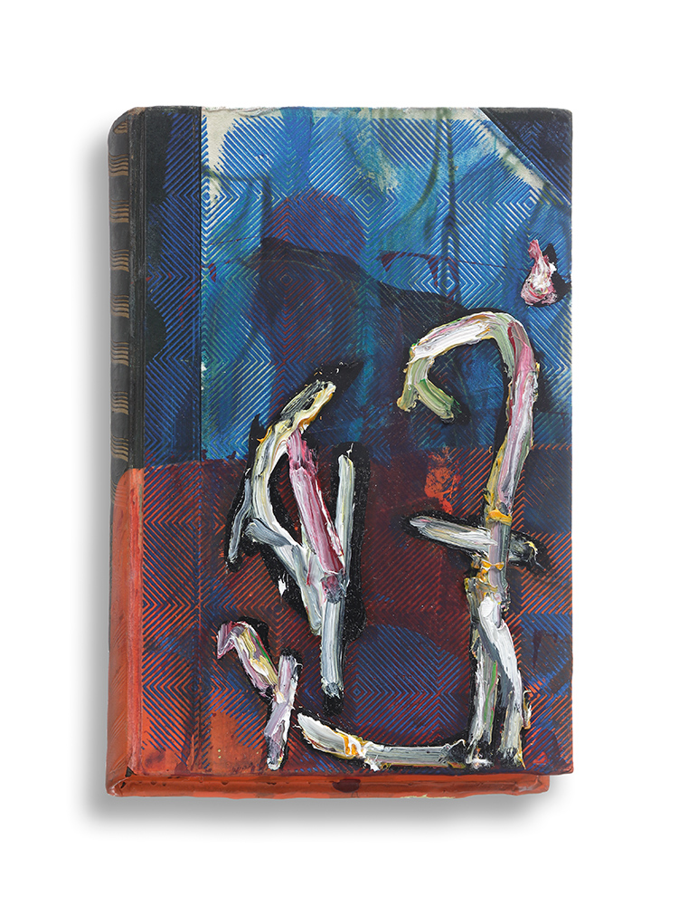 Untitled, 2015, Mixed media on book, 19,2 x 12,7 cm