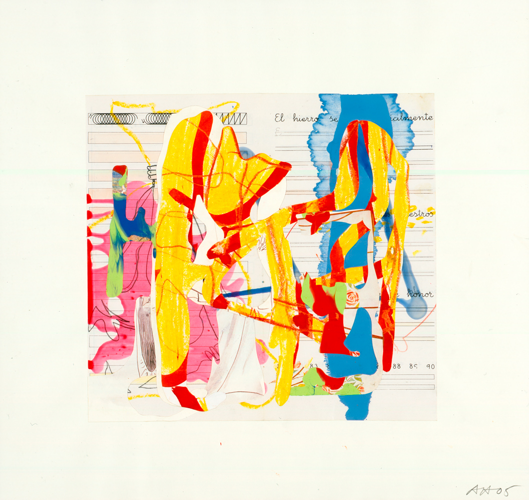 Untitled, 2005, Collage and mixed media on paper, 45,1 x 43,2 cm