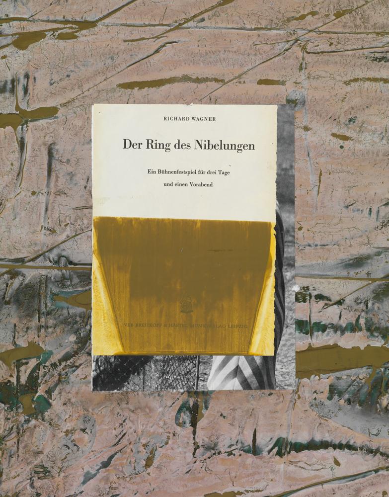 Der Ring des Nibelungen, 2009, Mixed media collage on paper, 51,3 x 39,9 cm