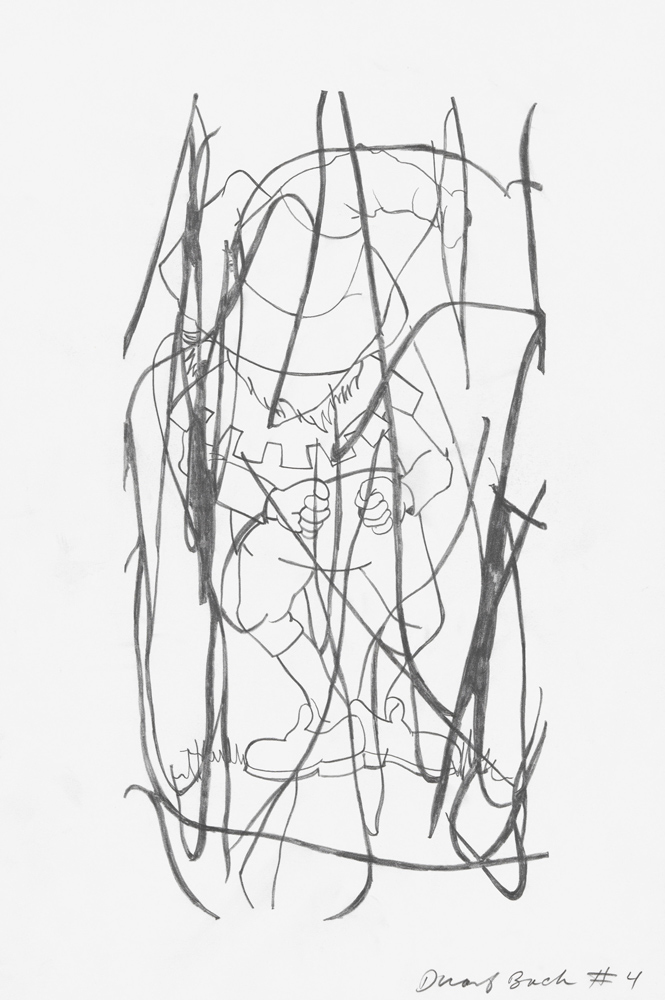 Dwarf Back #4, 2006, Graphite on paper, 42 x 28 cm