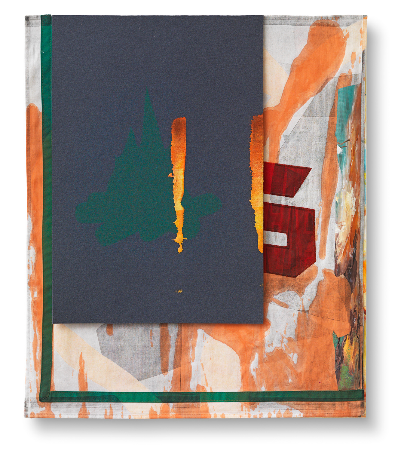Untitled (Sonntag), 2014, Mixed media on canvas, 75,5 x 63,5 cm
