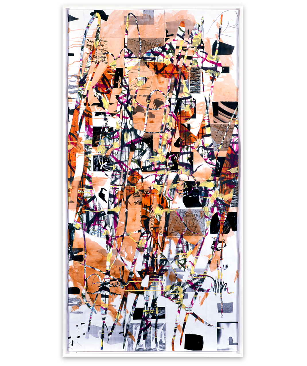 #41 DB2, 2006, Mixed media collage on paper, 250 x 123 cm